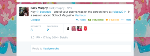 Sally Murphy tweet